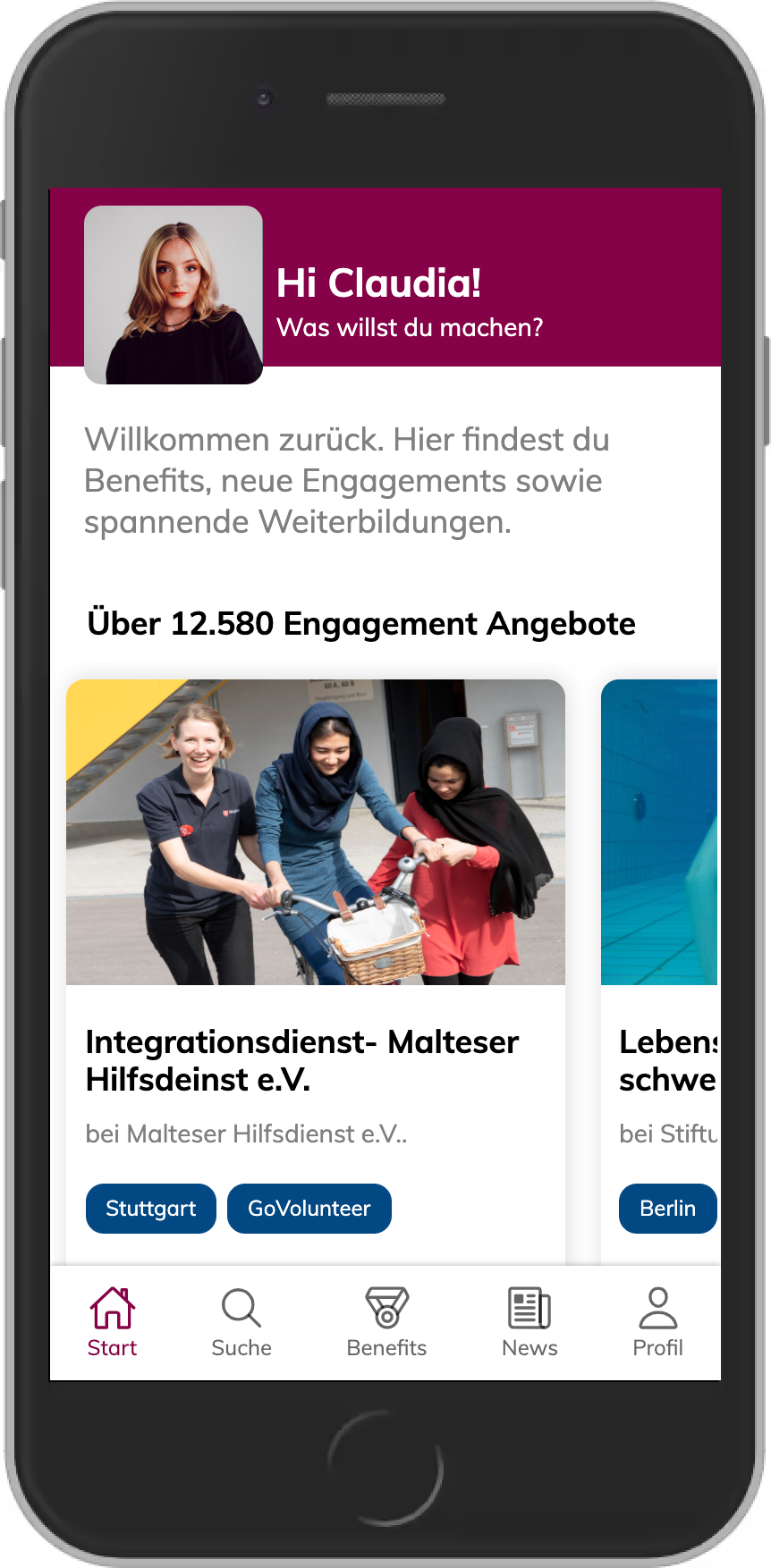 Screenshot der VOLTASTICS App